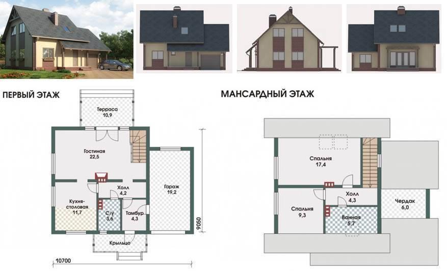 проекты 2 этажных домов из пеноблоков