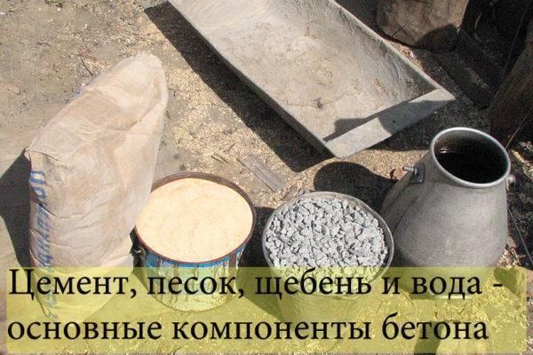 цемент песок вода
