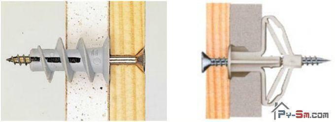 как крепить рейки к кирпичной стене