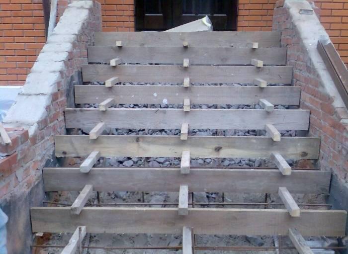 заливка бетонного крыльца